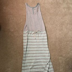 Beachy Maxi Dress with draw strong & slit